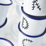 Heiße kundenspezifische handgemachte Metallcup-Decklack-Kaffeetasse mit Firmenzeichen