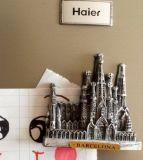 De beroemde Magneet van de Koelkast Polyresin van de Vlek van de Toerist van Barcelona 3D voor de Decoratie van de Keuken