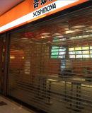 La puerta de rodadura de Guangzhou, el rodillo del obturador puertas automáticas, de seguridad transparente cristal de la puerta de Roll up tienda