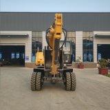 Venta directa de fábrica 8.7 toneladas de la excavadora de ruedas
