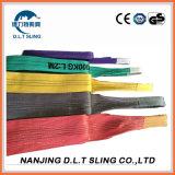 Imbracatura 100% di sollevamento rotonda della tessitura piana del poliestere