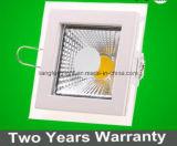 Diodo emissor de luz quadrado Panellight Downlight da ESPIGA da ESPIGA 15W de Aluminum+Glass