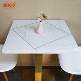 Mobiliário branco pedra de acrílico com mesa e cadeira para o hotel (61205)