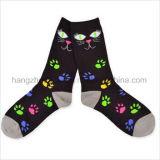 Schwarze Katze-Fantasie kämmte Kursteilnehmer-Kleid-Socke