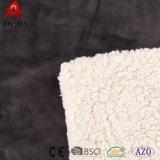 Coperte poco costose del panno morbido all'ingrosso la coperta domestica di Micromink di disegno con Sherpa