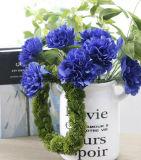 Il garofano artificiale caldo fiorisce il mazzo falso di cerimonia nuziale del fiore di Caryophyllus del Dianthus di seta all'ingrosso del fiore