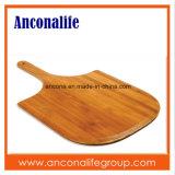 Plaque en bambou ronde de pizza de plateau de casse-croûte de plaque de marque d'Anconalife