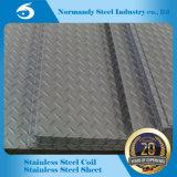 ASTM 201 a gravé la feuille antidérapante d'acier inoxydable pour la construction