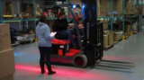 Voet LEIDENE van de Streek van de Vorkheftruck van de nevenactiviteit Rode Waarschuwing Light9-80V