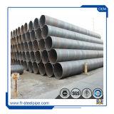 Tubo de evacuación de 24 pulgadas negro soldado carbono tubo ESPIRAL espiral Double-Side Submerged-Arc Tubo de acero soldado