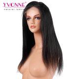 Yvonne 머리 정면 레이스 브라질 사람의 모발 가발