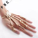 نمو نساء يد سلسلة جمجمة أصابع سبيكة هيكليّة عبد سوار
