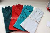Безопасности руки коровы 14 дюймов перчатки заварки Split кожаный