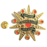 Barato personalizados brilhantes Gold Star Badge