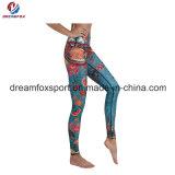 Desgaste sublimado aduana apretada de la yoga de las polainas de los pantalones de Yoag de la alta calidad