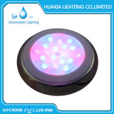 Luz enchida resina da lâmpada da piscina do diodo emissor de luz do aço inoxidável do poder superior