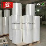 Película de estiramiento material de la importación LLDPE hecha en Shenzhen 30-45kg por el rodillo con 1kg Papercore