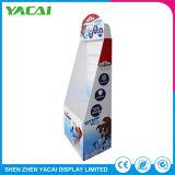 Plegado de papel personalizado Piso de Exposición de cartón de soporte de pantalla