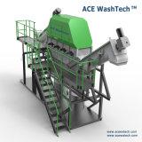 De plastic PE van pp Film Geweven Apparatuur van de Was van het Recycling van de Zak