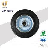 Heavy Duty de 8 pulgadas de poliuretano (PU) en la rueda de núcleo de hierro fundido