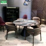 Presidenza di cuoio del ristorante di Microfiber ricoperta piedino di legno solido (YC546)