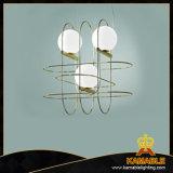 Sala de jantar Lustre Estilo Industrial Iluminação Pendente (9259P1-ouro)