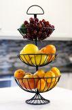 Metall Kd, das 3 Reihe-Frucht-Korb mit Handschaft packt