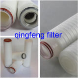 Membrana de PP Polipropileno 0,2 mícron o cartucho do filtro de pregas
