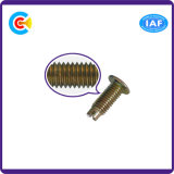 DIN/ANSI/BS/JIS Stainless-Steel Carbon-Steel/main vis à tête plate Twist Word pour machine/voiture