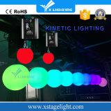 Der China-Lieferanten-Handkurbeln RGB-DMX LED kinetisches Licht Aufzug-Kugel-LED