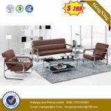Patas de metal sillón reclinable salón sofá de cuero auténtico (HX-CS067)