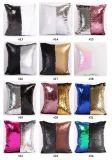 DIY Mermaid Sequin capa do assento Rosa Mágico deite fronhas 40cmx40cm travesseiro reversível com mudança de cor
