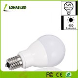 5W E17 Earth Light Bulbs 40W Equivalent 5W Soft White 3000K Slender G14 LED Bulbs for Ceiling Fan Headboard Reading Light