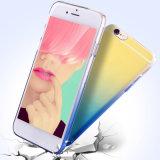 Мода градиент цвет прозрачного аппаратного телефона крышка картера для iPhone6/7/8