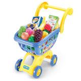 Jogo plástico do jogo do brinquedo da fruta do carro de compra dos miúdos