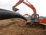 Pipe ondulée de ponceau de HDPE/drain/pipe d'eaux d'égout