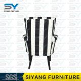 Hotel-Möbel-Metallstuhl-moderner Lehnsessel-weißer König Chair