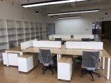 現代様式の優れたスタッフの区分ワークステーション事務机(PS-AWK-006)