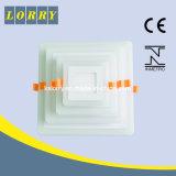 질 두 배 색깔 정연한 도관 조정 LED 위원회 빛 12+4W