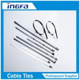 связи кабеля нержавеющей стали ручки PVC толщины 1.2mm с черным покрытием