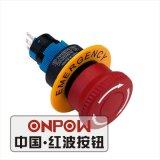 Nuovo tipo interruttori di pulsante di Onpow 22mm (serie di LAS1-AW, CE, RoHS, UL)