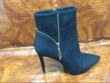 Модные остроконечные шпильки Bootie застежки -молнии стороны пальца ноги для женщин