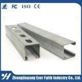 Puissant système Unistrut métalliques personnalisées en acier galvanisé C Canal