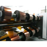 Selbstklebendes Band-automatische aufschlitzende Rückspulenmaschine