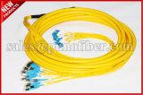24 kernen D4 aan Kabel van het Flard van de Vezel van LC Multifiber Singemode OS2 de Optische