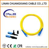 Cordon de raccordement à fibre optique mode unique Sc-Sc