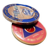 Moneda de encargo 3D/2.o medallón /Medal (YB-MD-490) del epóxido del esmalte del color del negro de la alta calidad