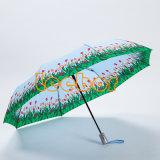 جديدة تصميم زهرة يطبع [سون] مطر قابل للانكماش سفر مظلة