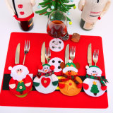 Natal para a decoração da tabela do saco da cutelaria da faca da forquilha