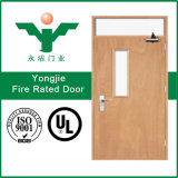 火の評価される安全証明書が付いている合成の木製の防火扉